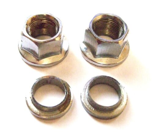 "3//8/"" SPACERS 14MM CHROMED TRACK NUTS MTB BIKE /& BMX WHEEL NUTS"