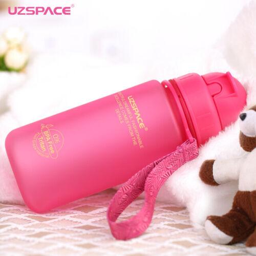 UZSPACE 400ml Straw Water Bottle Kid Baby Sport Portable leakproof Drink Bottle