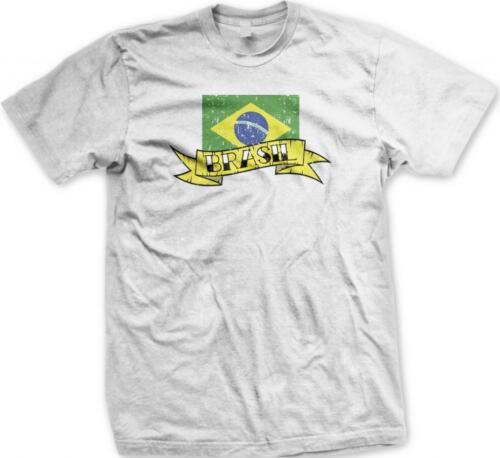 Brazil Brasil Flag Banner Bandeira Brazilian Pride Orgulho Mens T-shirt
