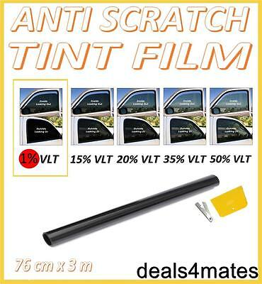 Anti-scratch Car Van Window Tint Film Ultra Super Dark Limo Black 1% 76cm X 3m I Cataloghi Saranno Inviati Su Richiesta