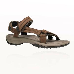 3c9a8590865316 Teva Terra FI Lite Leather Womens Brown Velcro Walking Sports ...