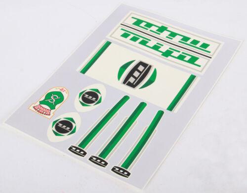 MIFA Décalques Autocollants Décor Vert 7 Pièces Set 60er//70er RDA Klapprad Autocollant