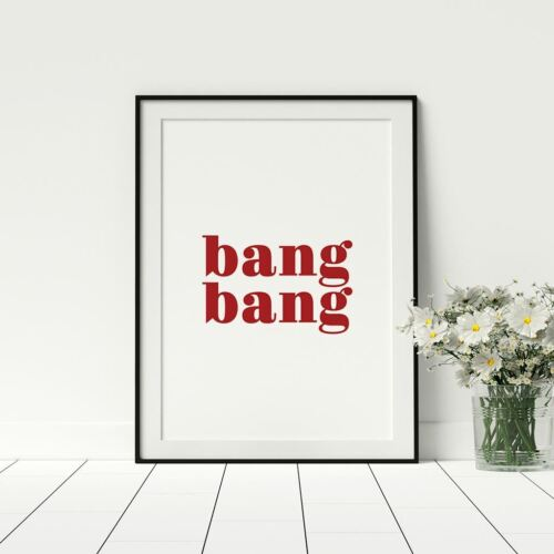Stylish Wall Art Feminist Prints Bang Bang Wall Art Fashion Wall Prints