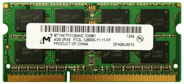 4GB DDR3L SO DIMM 1600 Mhz PC3L-12800S Notebook RAM MICRON MT16KTF51264HZ-1G6M1