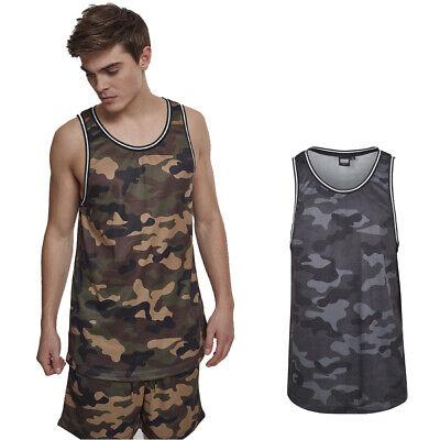 Urban Classics Camo Mesh Tanktop Camiseta Deportiva de Tirantes para Hombre