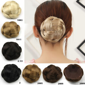 Women-Braided-Hair-Bun-Clip-In-Synthetic-Big-Chignon-Donut-Roller-Hairpiece-Updo