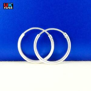 Girls-925-Sterling-Silver-8mm-16mm-Small-Tiny-Hinged-Hoop-Sleeper-Earrings-Pair