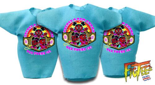 """3 X nuovo giorno 7/"""" Elite Di Base Retrò wrestling action figure T-shirt"""