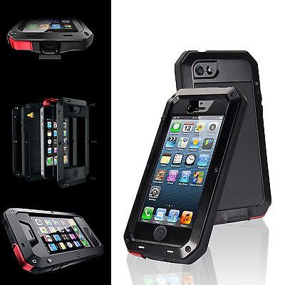 Waterproof Gorilla Glass Metal Cover Case iPhone 6S Plus 5S/5C/4S Samsung S4 5 6