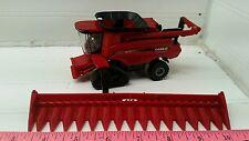 1/64 CUSTOM case ih 9240 combine with tracks w/ 16 row corn head ERTL farm toy