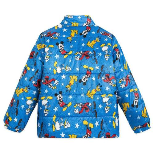 New DISNEY Store Mickey Mouse LightWeight Puffy Jacket 5//6 7//8 Blue Red Yellow