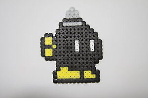 pixel art perles a repasser bombe noire de super mario ebay. Black Bedroom Furniture Sets. Home Design Ideas