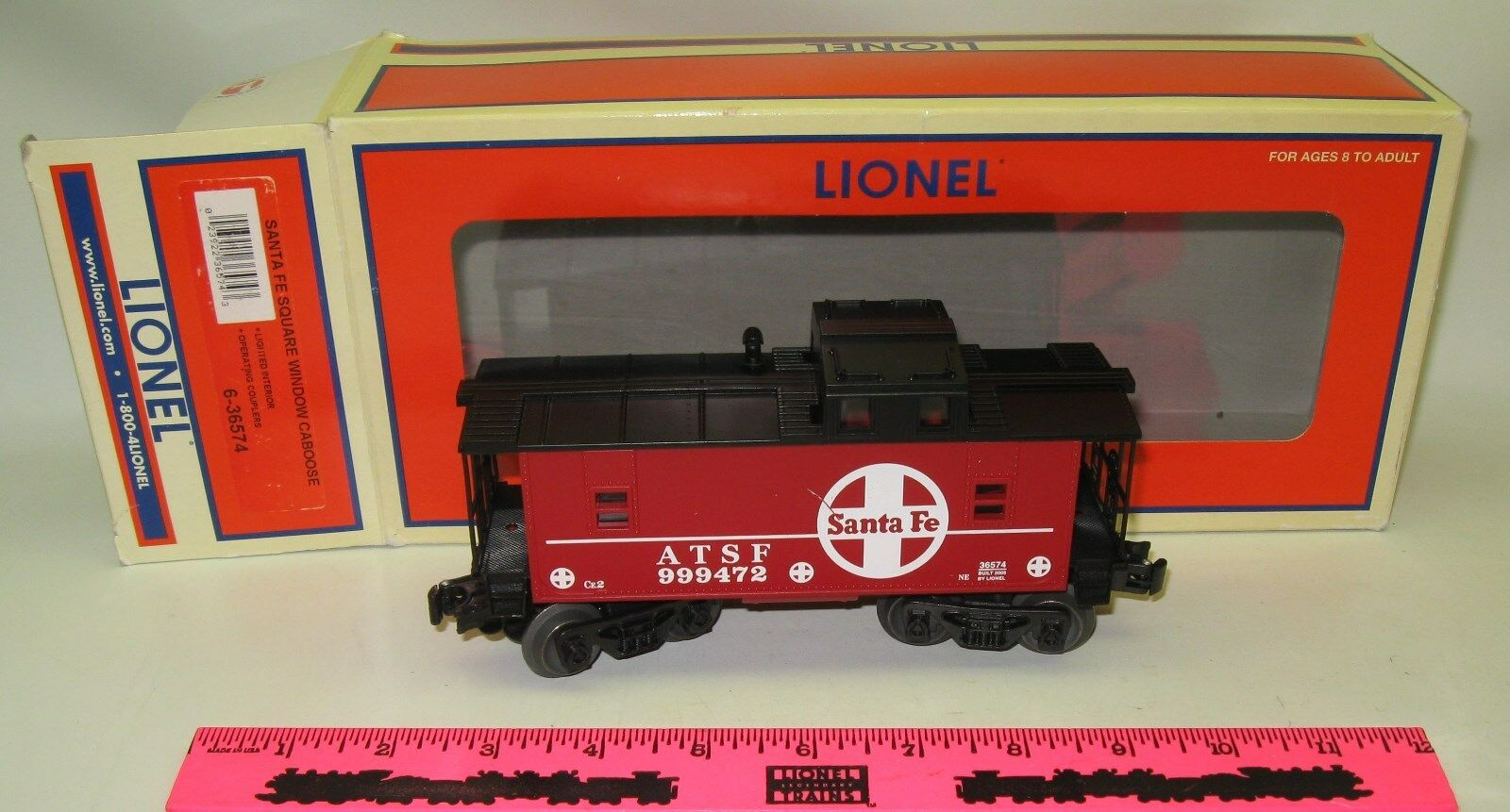 Lionel 6-36574 Santa Fe Square window caboose