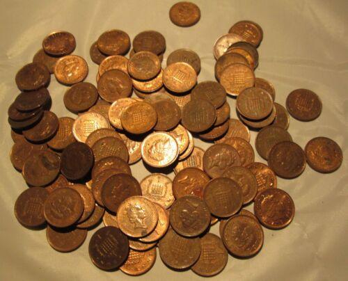Great Britain 100  New Penny Various Date United Kingdom Elizabeth II
