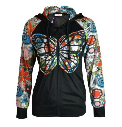 Innocent Butterfly Hoodie Giacca Top Shirt Stripes Vintage Retrò 70s #3153 042