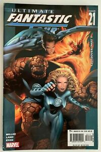 ULTIMATE-FANTASTIC-FOUR-21-7-0-VERY-FINE-1st-MARVEL-Zombies-app-Comics-2005