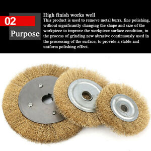 100mm-250mm-Brass-Wire-Wheel-Brush-For-Metal-Derusting-Wood-Grinding-Polishing