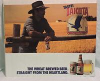 Scarce 80s Dakota Miller Beer Bar Man Cave Cowboy 30 X 25.5 Streamer Poster