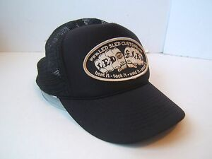 7aec27e5e84 Image is loading Led-Sled-Customs-Patch-Hat-Vintage-Black-Snapback-