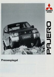 Mitsubishi-Pajero-Pressespiegel-Prospekt-1991-Autoprospekt-brochure-risalah-Auto