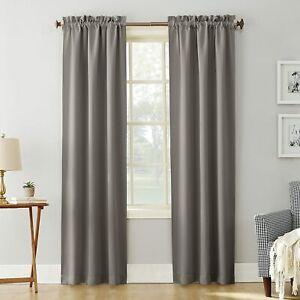 "Sun Zero Easton Blackout Rod Pocket 1 Single Curtain Panel 40/""W x 84/""L Gray"