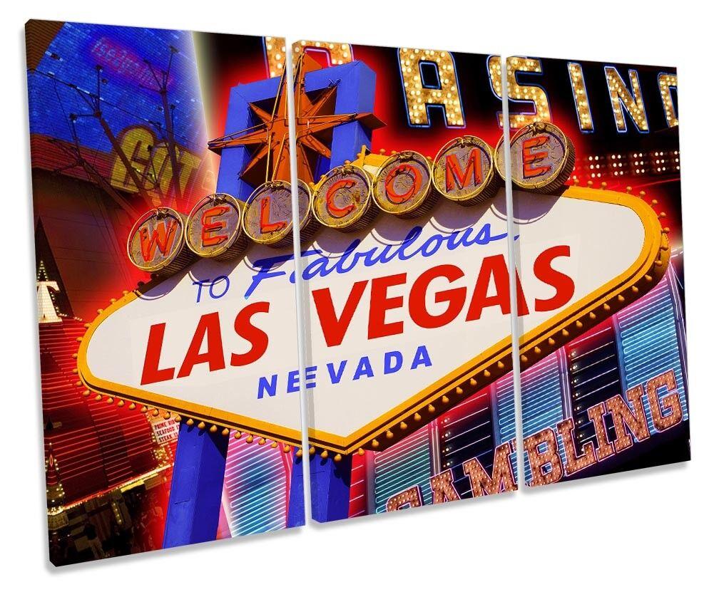 Cartello di di di benvenuto Las Vegas incorniciato Treble stampa art. a muro 1d5208