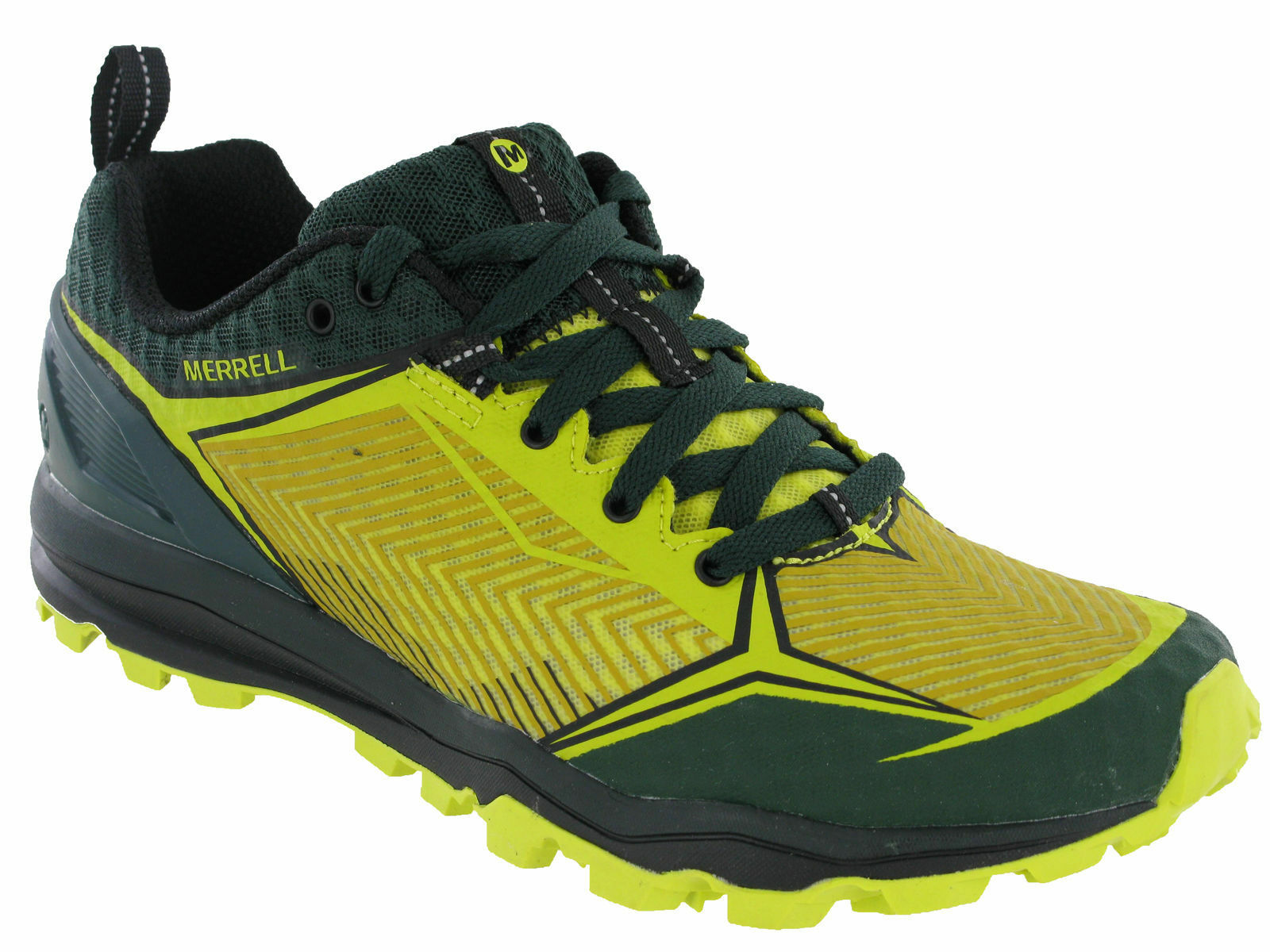 Merrell All Out Crush ESCUDO Correr Senderismo verde Zapatillas Hombre j35853