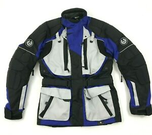 NEW Belstaff Motorcycle Touring Jacket Size Small Blue All Weather Padded Armor