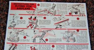 REMCO-Flying-Fox-INSTRUCTION-SHEET-COLOR-COPY-ON-COLLECTOR-QUALITY-PAPER
