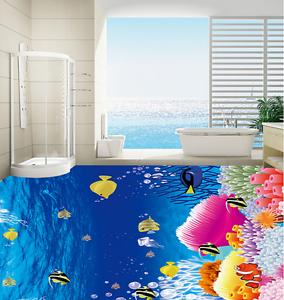 3D Cartoon Ocean 6 Floor WallPaper Murals Wallpaper Mural Print AJ AU Lemon