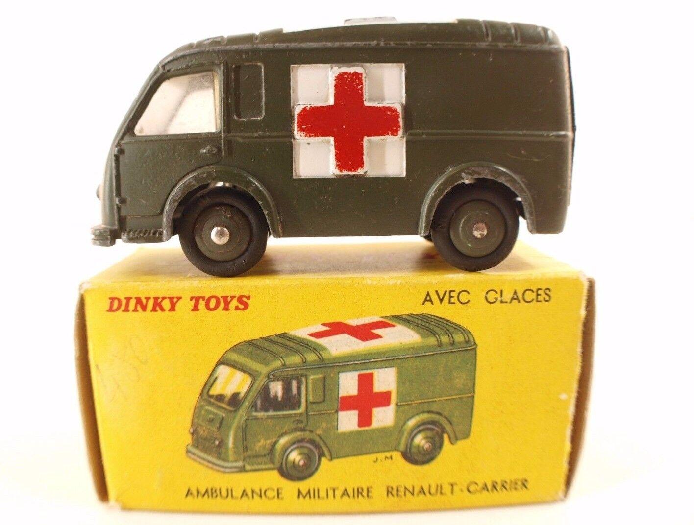 Dinky Toys F 80F Ambulance militaire Renault Carrier en boîte