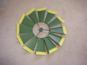 REPLACEMENT-22-1-2-034-FAN-ONLY-Green-Yellow-Tips-8-ft-Steel-Windmills-26