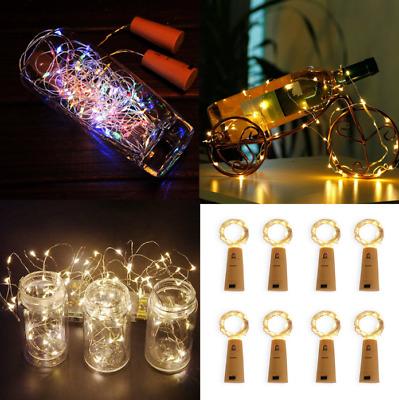 20 Led Wine Beer Bottle Cork Fairy Lights Copper Wire