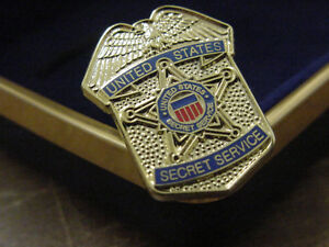 Presidential secret service lapel pin no signature