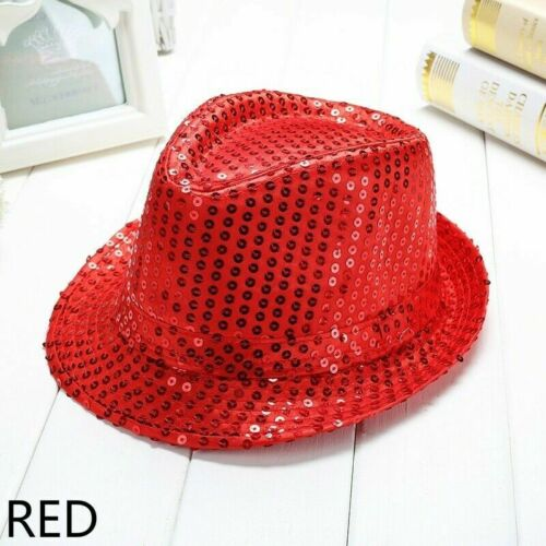 Sequin Jazz Hat Trilby Fedora Caps Dance Show Glitter Party Fancy Dress SHP Cute