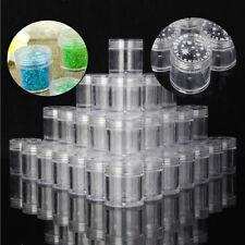 Acryl D/öschen Tiegel mit Deckel f/ür Perlen 10 St/ück #AUF2 B Ware DIY