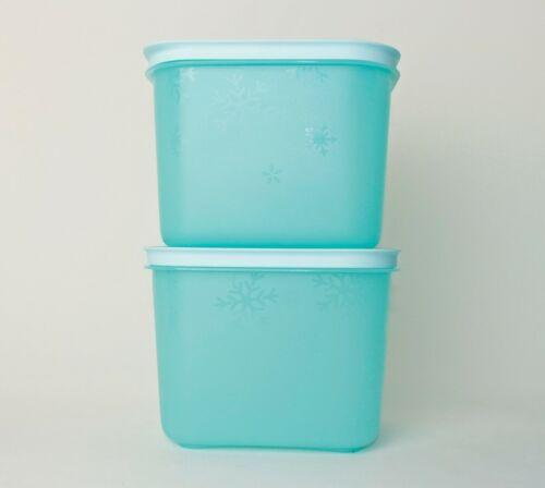 TUPPERWARE Eiskristall Gefrierbehälter 2x 1,1L Hellblau