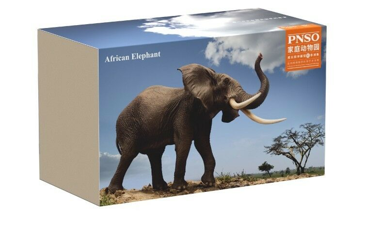 PNSO wild life African Elephant large Model toy scientific art Figure New IN BOX