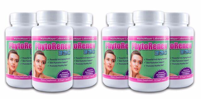 6x Phytoceramides PhytoRenew 350 Anti-Aging Skin Hydration Vitamins A C D E