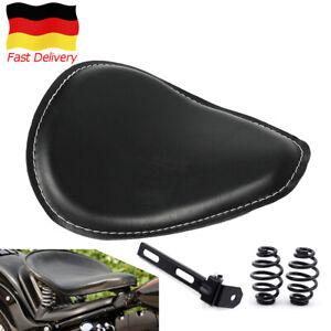 Motorrad-Solo-Sitz-Schwingsattel-3-039-039-Sitzfedern-Halter-fuer-Harley-Chopper-Bobber