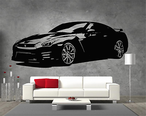 Nissan-GTR-Sticker-Wall-Art-Boys-Bedroom-Garage