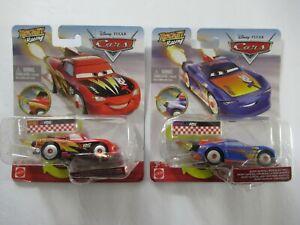 Disney Pixar Cars Rocket Racing Lot Lightning McQueen Barry DePedal CREASED PKG