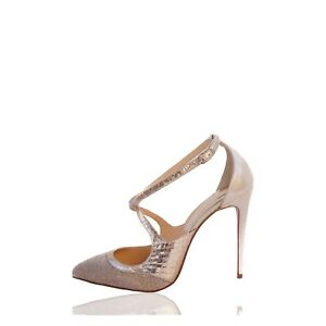 815b88ff88cd Image is loading CHRISTIAN-LOUBOUTIN-CRISSOS-TWISTISSIMA-100-POINTED-TOE- PUMPS