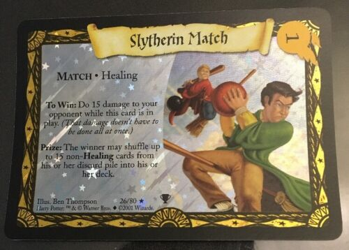 Harry Potter TCG Quidditch Cup Slytherin Match FOIL 26//80