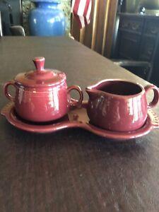 fiestaware sugar bowl