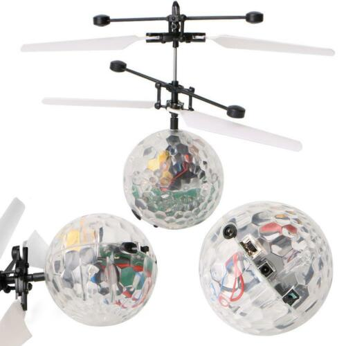 Electric RC Flying Ball Infrared Induction Aircraft LED Flash Light Kids Toy MT