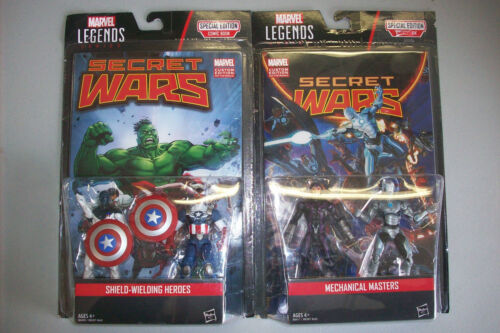"Marvel Legends Mechanical Masters /& Shield-Wielding Heroes 3.75/"" Action Figures"