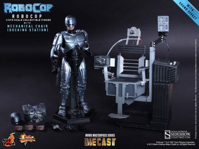 """Hot Toys DIECAST MMS Robocop with Mechanical Chair 1/6 Scale 12"""" Figure In Stock"""