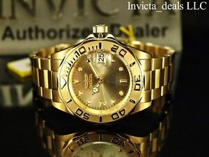 Invicta-Men-Pro-Diver-24-Jewel-Automatic-NH35A-18K-Gold-Plate-SS-Champagne-Watch