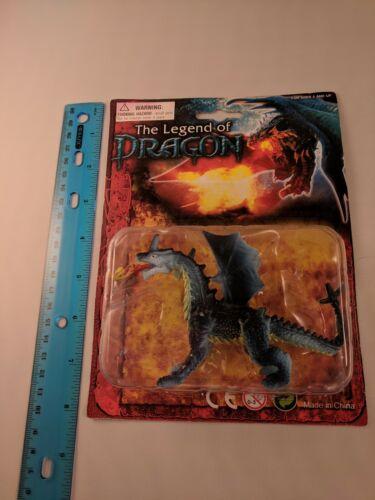 "La légende du Dragon Bleu//Tan Fire Breathing Dragon 4/""x3/"" Jouet en plastique"